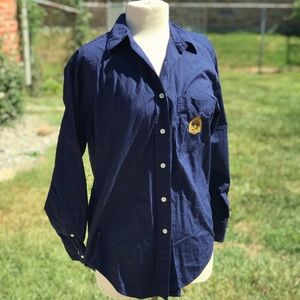 Lauren Ralph Lauren Tops - Lauren Ralph Lauren Button Down Navy Long Sleeve